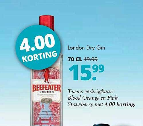 Mitra Beefeater London Dry Gin 4.00 Korting