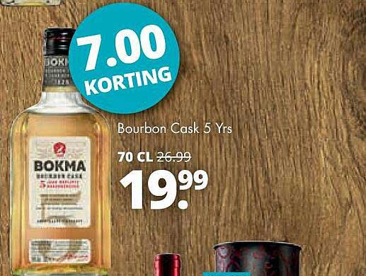 Mitra Bokma Bourbon Cask 5 Yrs 7.00 Korting