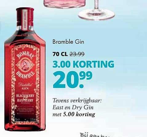 Mitra Bombay Bramble Gin 3.00 Korting