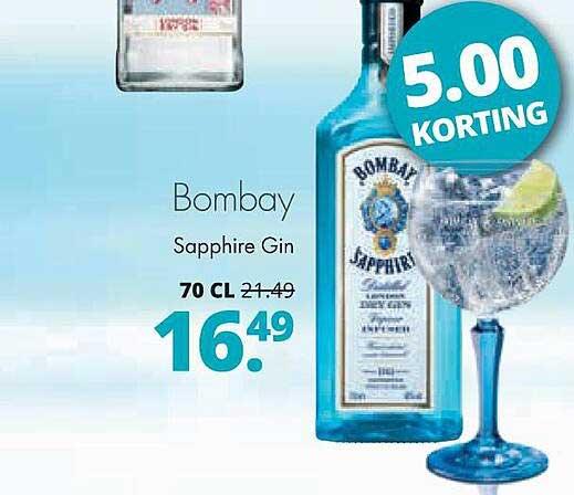 Mitra Bombay Sapphire Gin 5.00 Korting