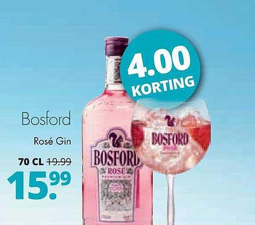 Mitra Bosford Rosé Gin 4.00 Korting