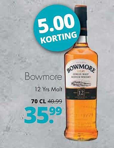 Mitra Bowmore 12 Yrs Malt 5.00 Korting