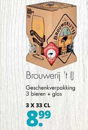 Mitra Brouwerij 't Ij Geschenkverpakking 3 Bieren + Glas