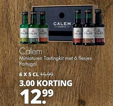 Mitra Calem Miniaturen Tastingkit Met 6 Flesjes 3.00 Korting