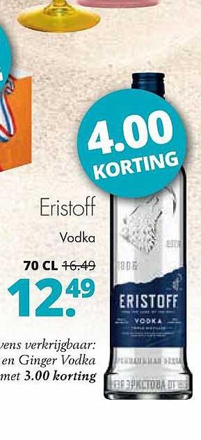 Mitra Eristoff Vodka 4.00 Korting