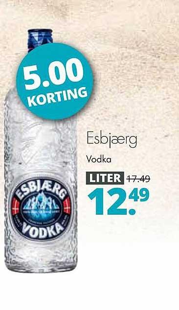 Mitra Esbjærg Vodka 5.00 Korting