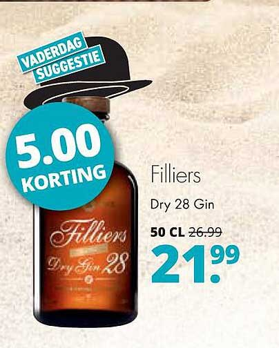 Mitra Filliers Dry 28 Gin 5.00 Korting