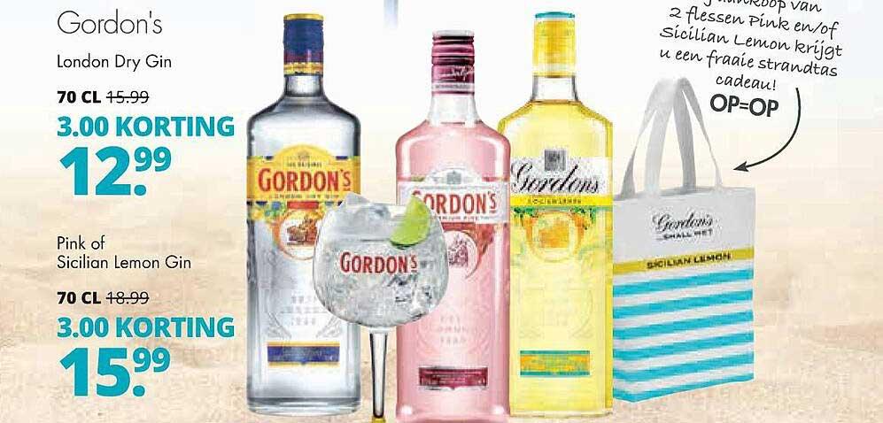 Mitra Gordon's London Dry Gin, Pink Of Sicilian Lemon Gin 3.00 Korting