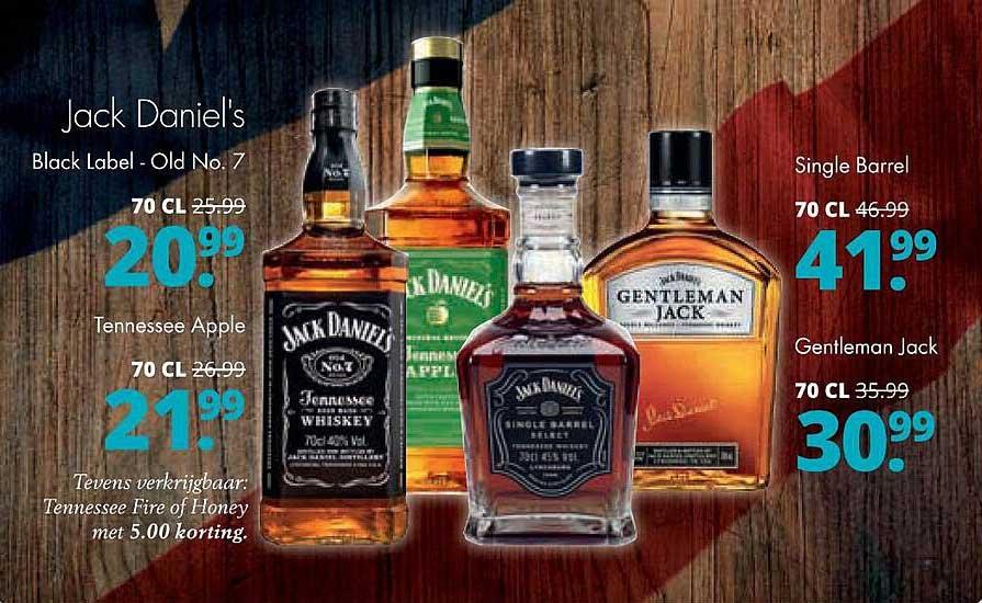 Mitra Jack Daniel's Black Label - Old No. 7, Tennessee Apple, Single Barrel Of Gentleman Jack