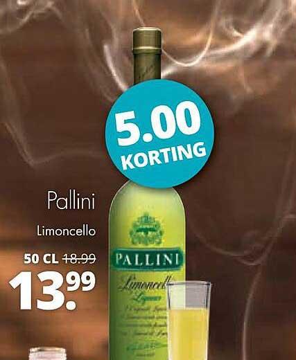Mitra Pallini Limoncello 5.00 Korting