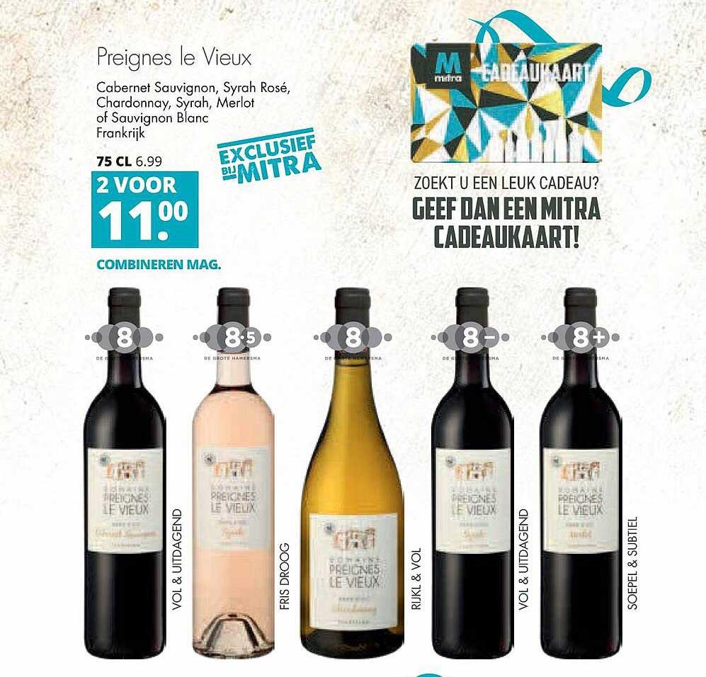Mitra Preignes Le Vieux Cabernet Sauvignon, Syrah Rosé, Chardonnay, Syrah, Merlot Of Sauvignon Blanc