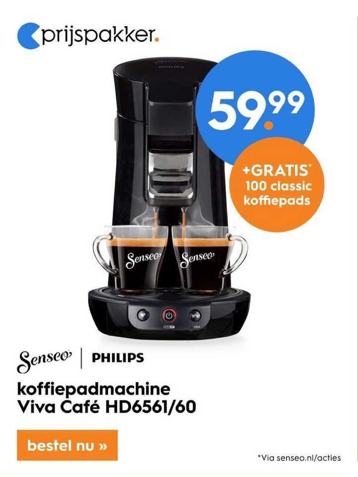 Blokker Senseo Philips Koffiepadmachine Viva Café HD6561-60