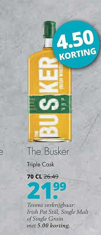 Mitra The Busker Triple Cask 4.50 Korting