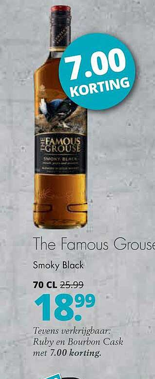 Mitra The Famous Grouse Smoky Black 7.00 Korting
