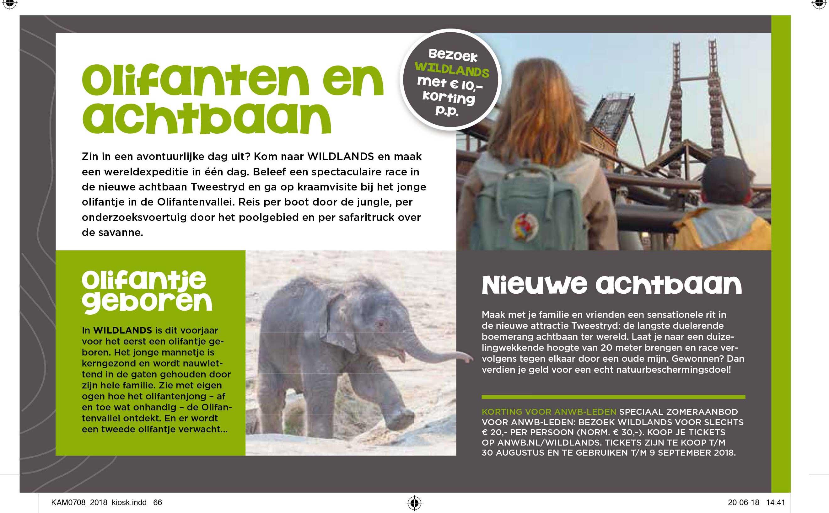 ANWB Bezoek Wildlands Met €10,- Korting P.p.