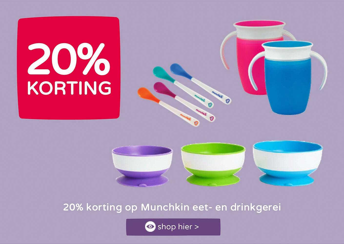 Prénatal 20% Korting Op Munchkin Eet- En Drinkgerei