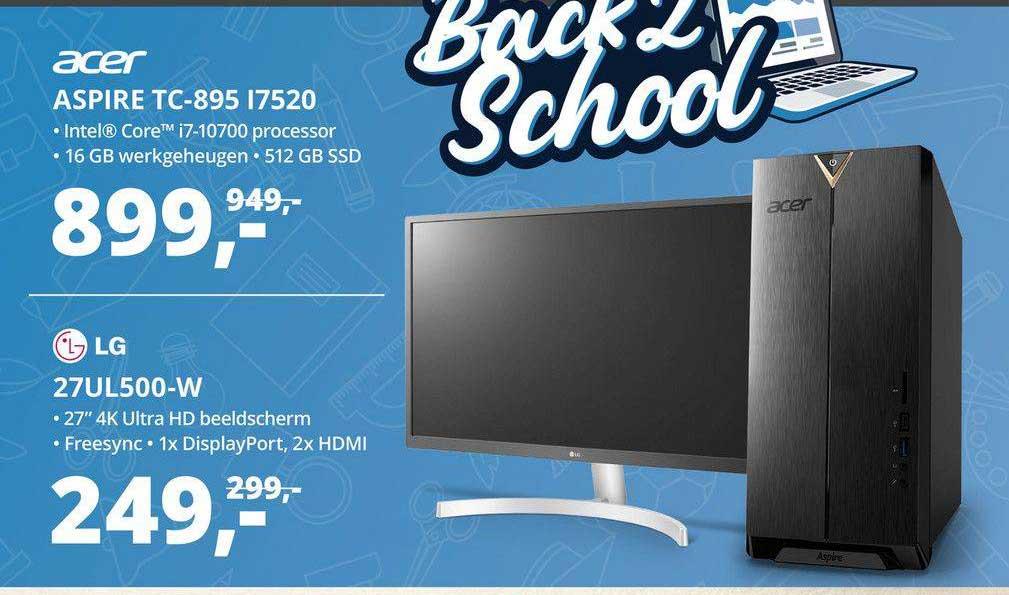 Paradigit Acer Aspire TC-895 I7520 Of LG 27UL500-W Monitor