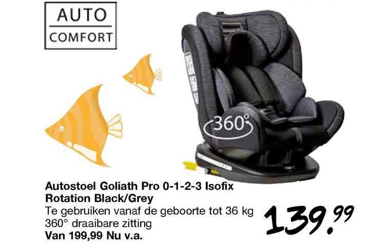 Van Asten Autostoel Goliath Pro 0-1-2-3 Isofix Rotation Black-Grey