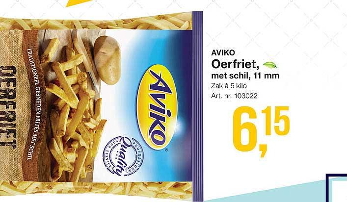 Bidfood Aviko Oerfriet, Met Schil, 11 Mm