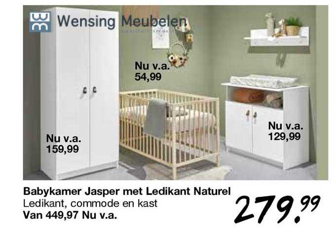 Van Asten Babykamer Jasper Met Ledikant Naturel
