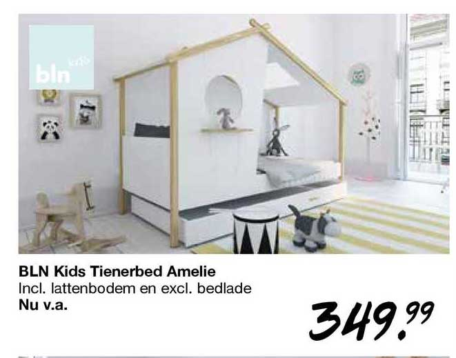 Van Asten BLN Kids Tienerbed Amelie Incl. Lattenbodem En Excl. Bedlade
