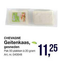 Bidfood Chevagne Geitenkaas, Gesneden