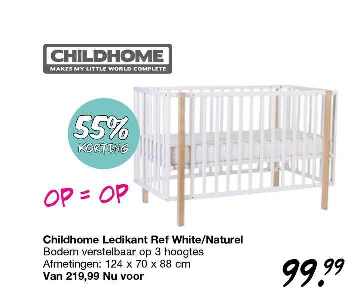 Van Asten Childhome Ledikant Ref White-Naturel 55% Korting