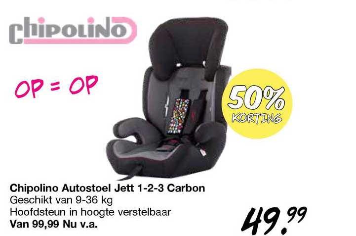 Van Asten Chipolino Autostoel Jett 1-2-3 Carbon 50% Korting