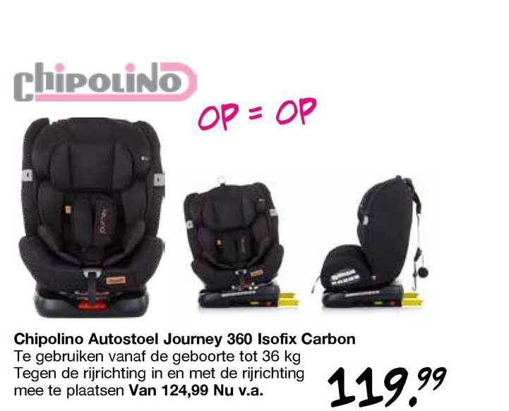 Van Asten Chipolino Autostoel Journey 360 Isofix Carbon