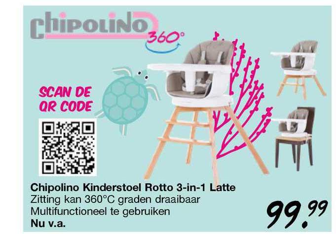 Van Asten Chipolino Kinderstoel Rotto 3-in-1 Katte