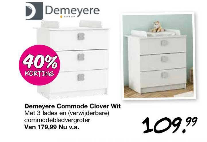 Van Asten Demeyere Commode Clover Wit 40% Korting