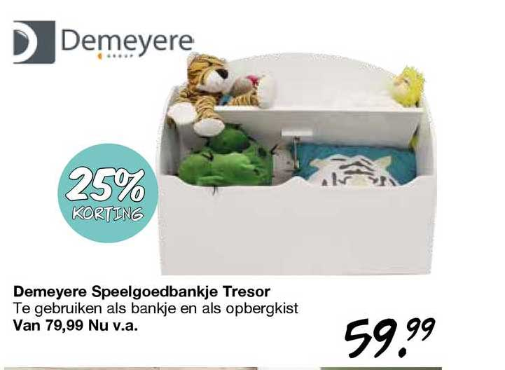 Van Asten Demeyere Speelgoedbankje Tresor 25% Korting