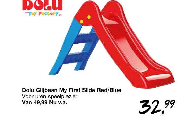 Van Asten Dolu Glijbaan My First Slide Red-Blue