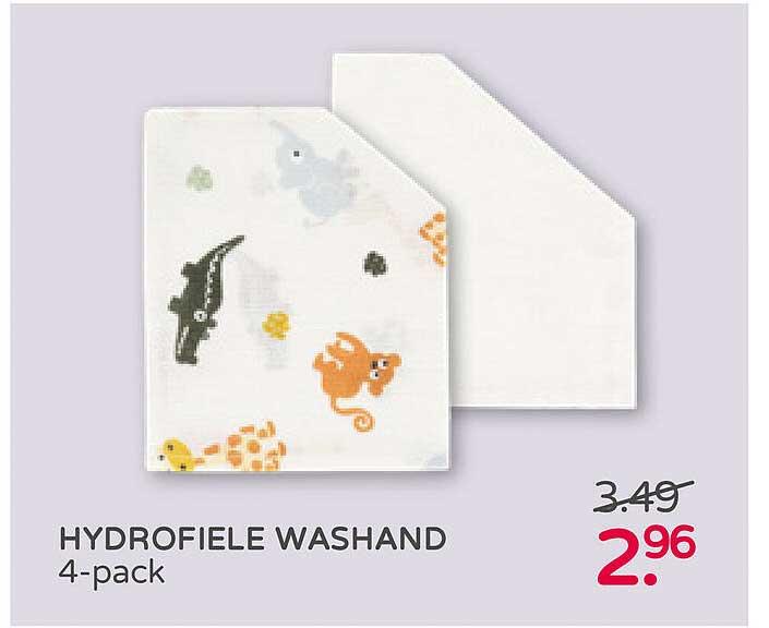 Prénatal Hydrofiele Washand 4-Pack
