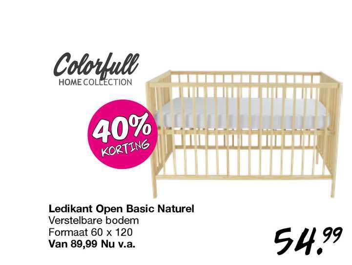 Van Asten Ledikant Open Basic Naturel 40% Korting
