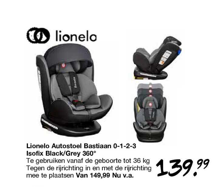 Van Asten Lionelo Autostoel Bastiaan 0-1-2-3 Isofix Black-Grey 360º