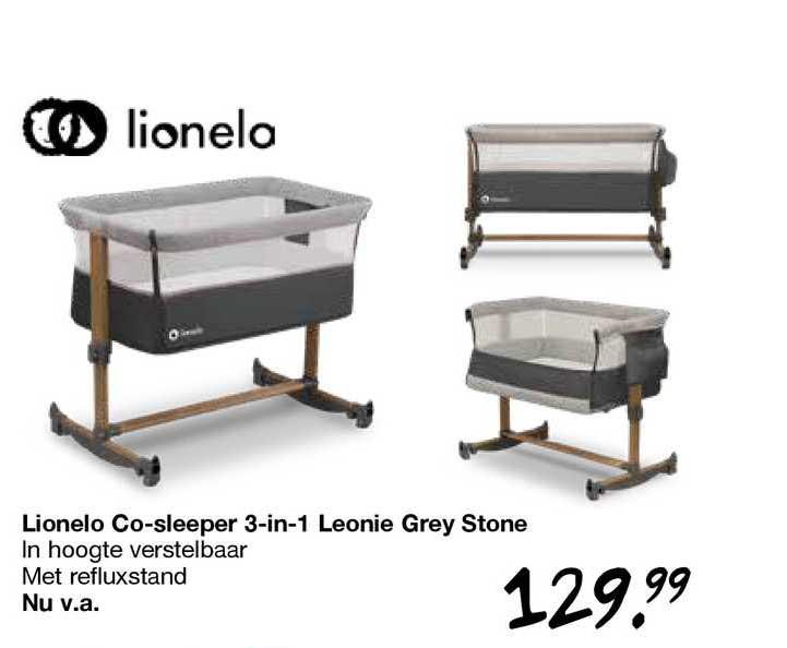 Van Asten Lionelo Co-Sleeper 3-in-1 Leonie Grey Stone