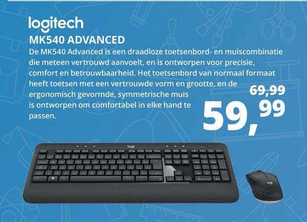 Paradigit Logitech MK540 Advanced Draadloze Toetsenbord- En Muiscombinatie