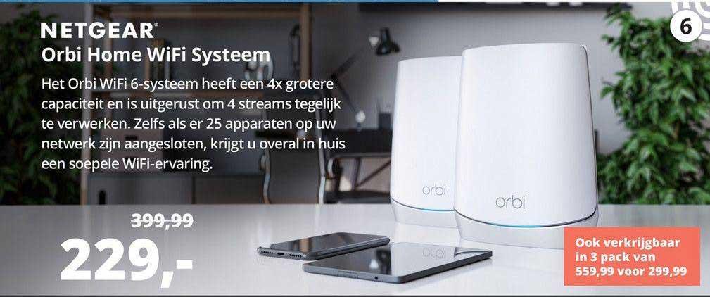 Paradigit Netgear Orbi Home WiFi Systeem