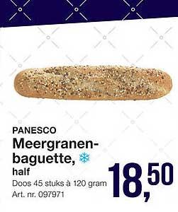 Bidfood Panesco Meergranenbaguette, Half