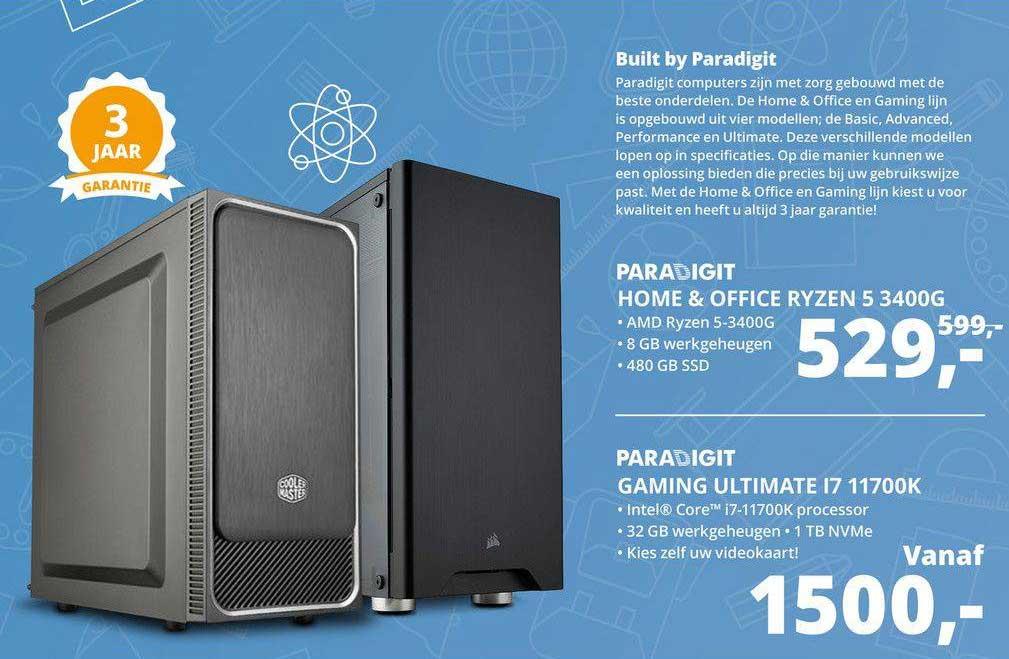 Paradigit Paradigit Home & Office Ryzen 5 3400G Of Paradigit Gaming Ultimate I7 11700K