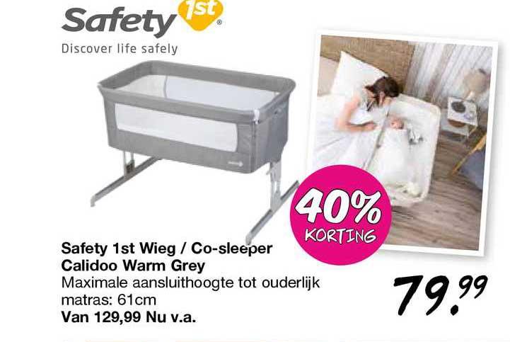 Van Asten Safety 1st Wieg - Co-Sleeper Calidoo Warm Grey 40% Korting