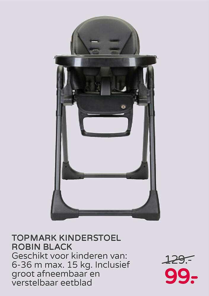 Prénatal Topmark Kinderstoel Robin Black