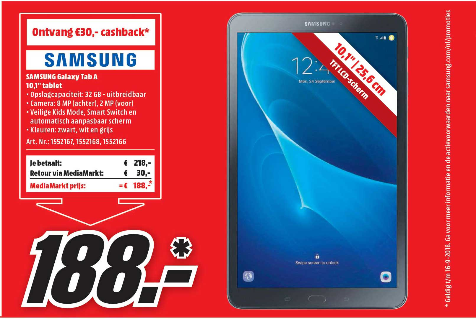 MediaMarkt Samsung Galaxy Tab A 10.1 Inch Tablet