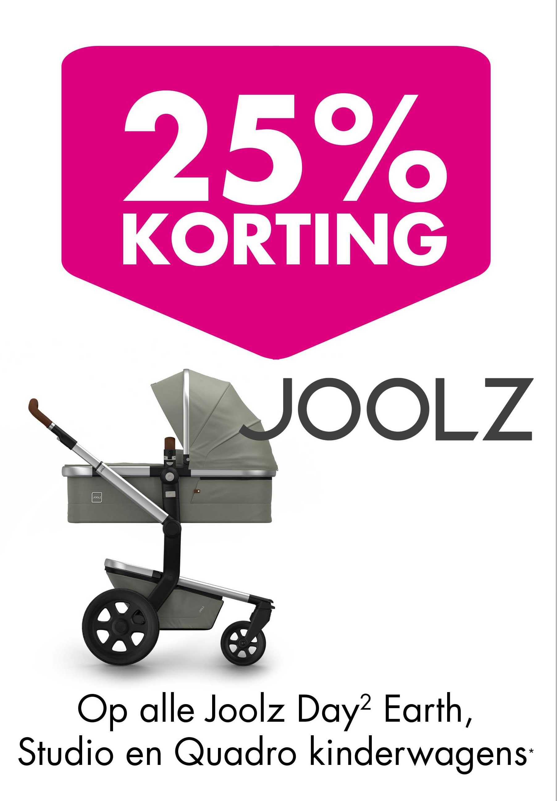 Baby & Tiener 25% Korting Op Alle Joolz Day Earth, Studio En Quadro Kinderwagens