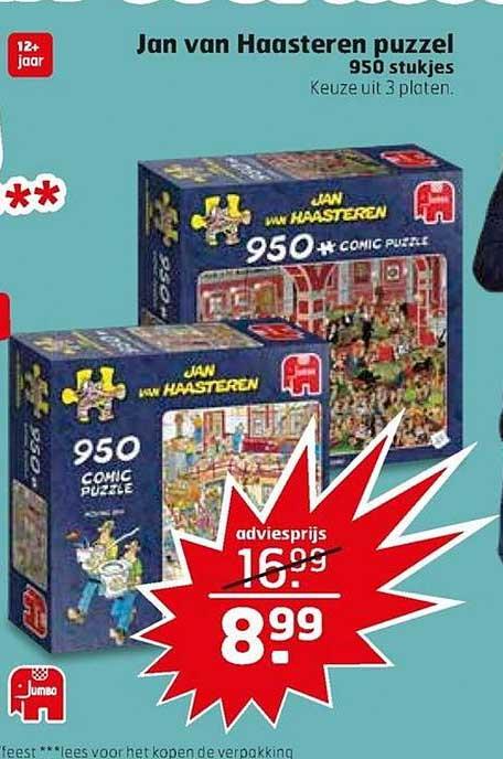 Trekpleister Jan Van Haasteren Puzzel Speelgoed 950 Stukjes
