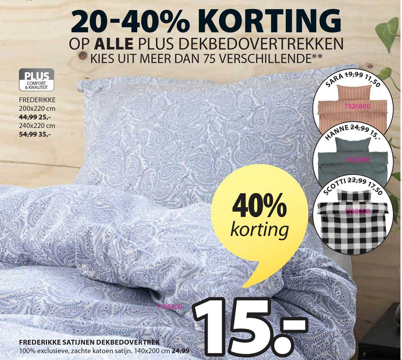 Jysk Frederikke Satijnen Dekbedovertrek 40% Korting