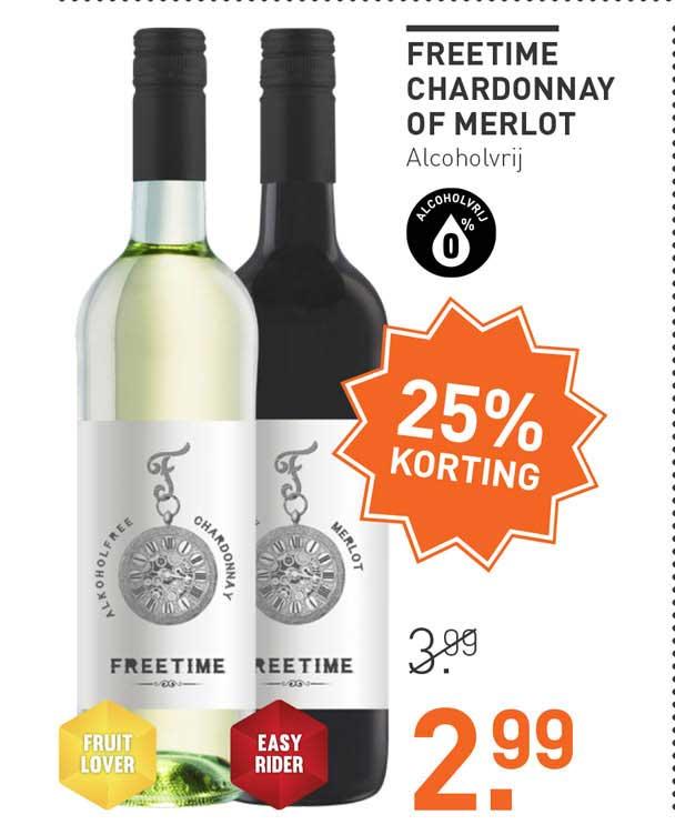 Gall & Gall Freetime Chardonnay Of Merlot 25% Korting