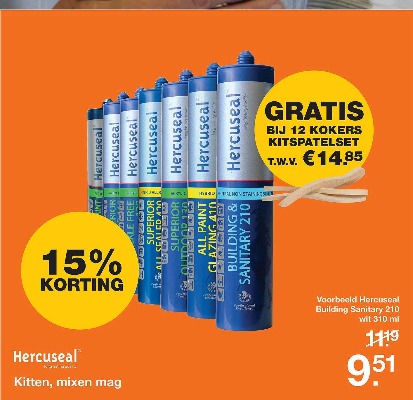 Bouwmaat Hercuseal Kitten, Mixen Mag 15% Korting