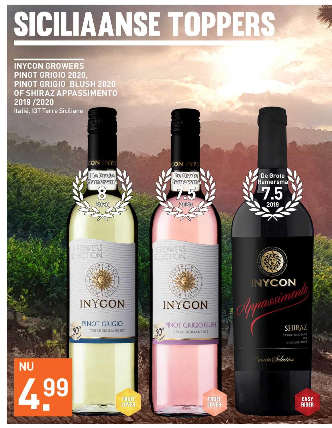 Gall & Gall Inycon Growers Pinot Grigio 2020, Pinot Grigio Blush 2020 Of Shiraz Appassimento 2019 - 2020